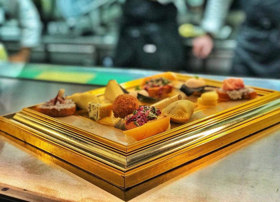 Antipasto Tavolozza del ristorante di Musia a Roma