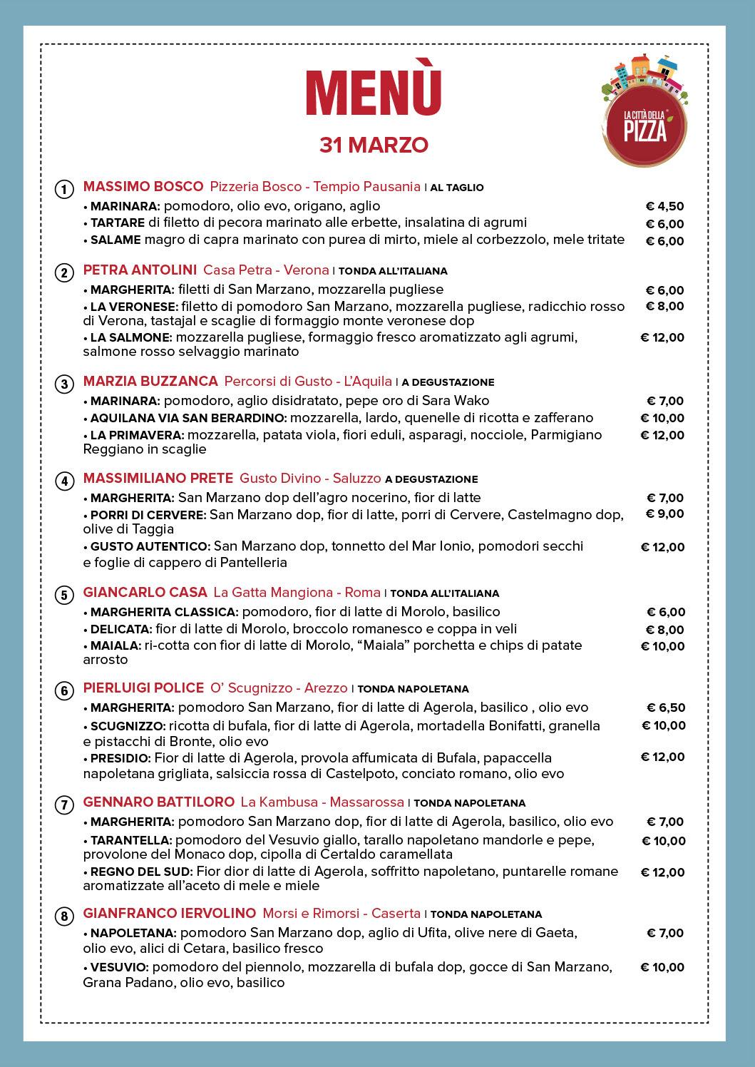 menu estivo comune di roma