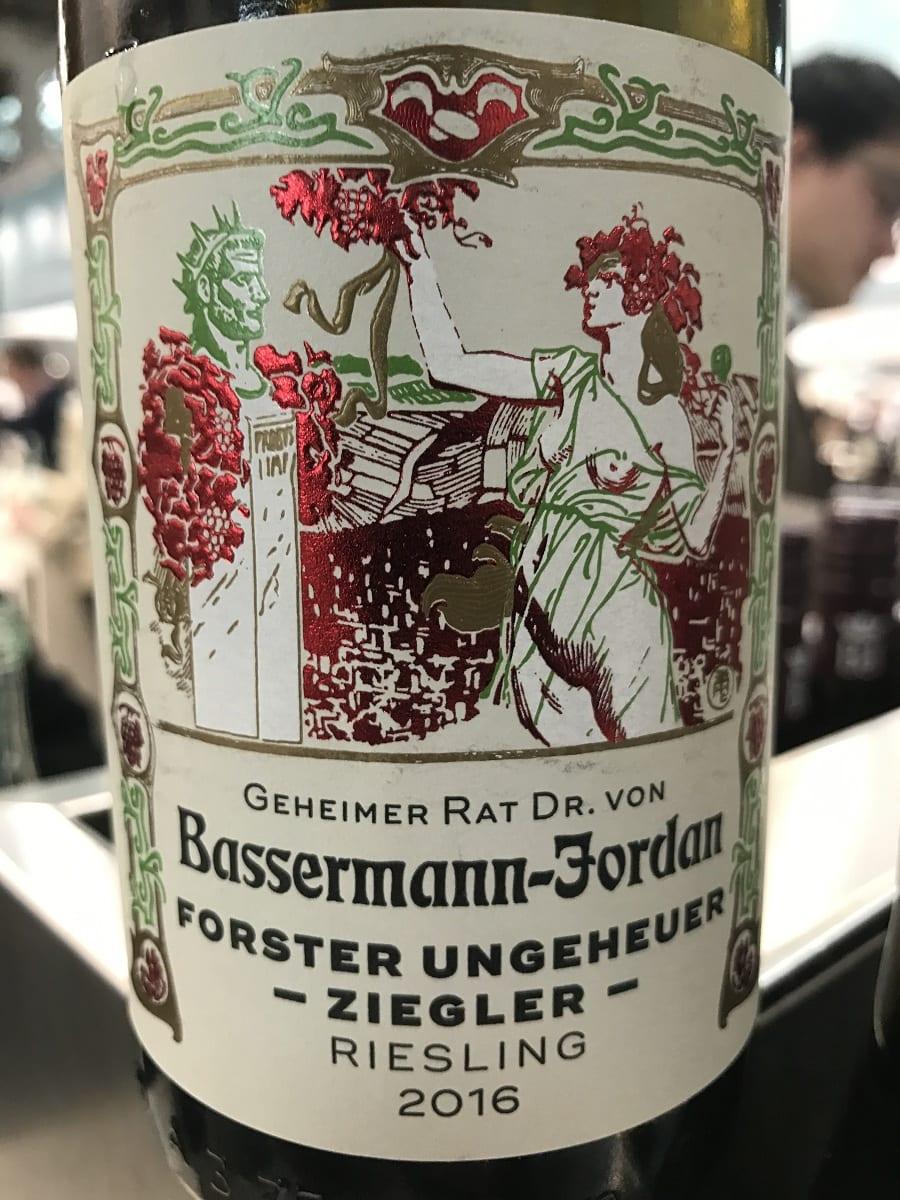 Riesling Forster Ungeheuer Ziegler2016 Dr.Von Bassermann-Jordan