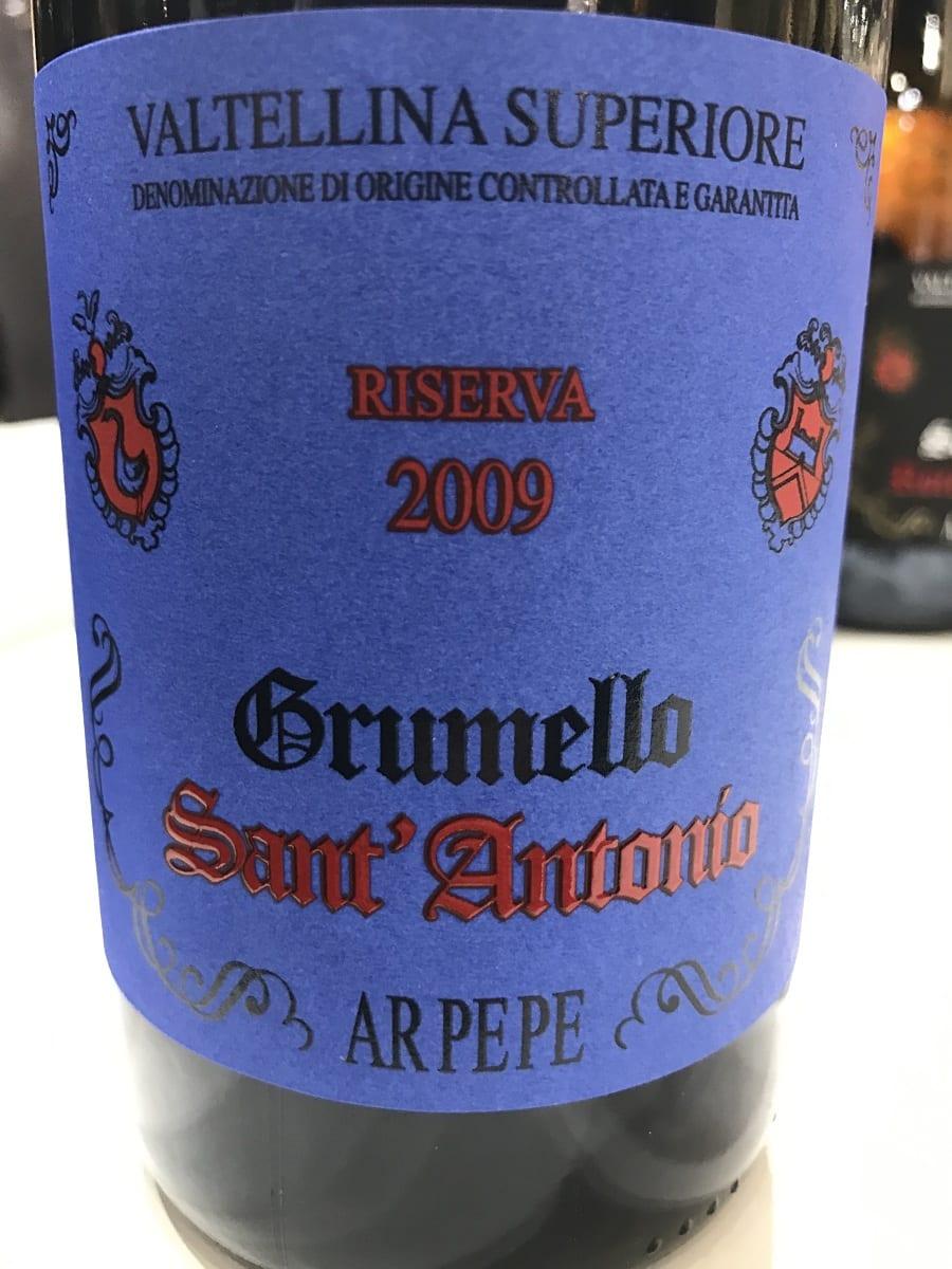 Valtellina Superiore Grumello Sant'Antonio Riserva 2009 Ar.Pe.Pe