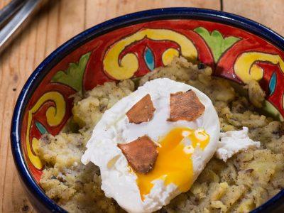 Uova, patate e tartufo