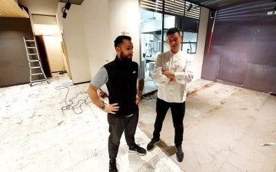 Lorenzo Costa e Lorenzo Vecchia nel cantiere di Ahimè a Bologna