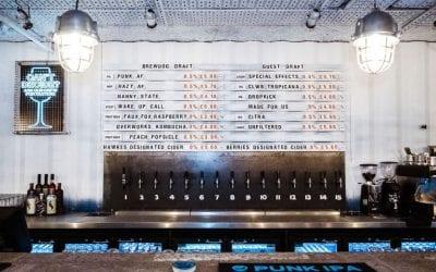 Le spine del BrewDog AF Bar a Londra