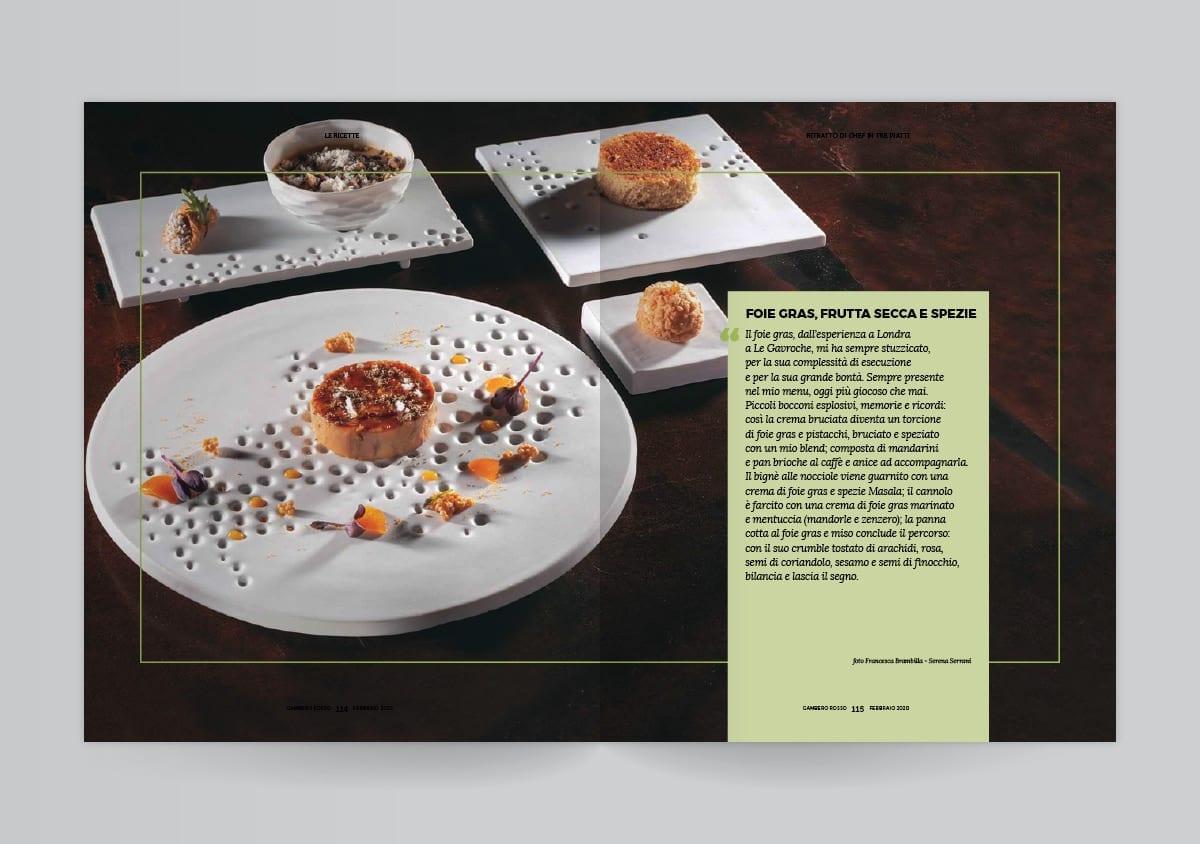 I piatti di Francesco Apreda sul Gambero Rosso