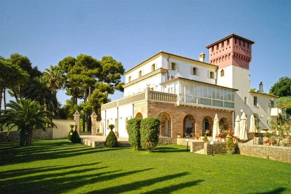 Villa Rossi vista dal giardino
