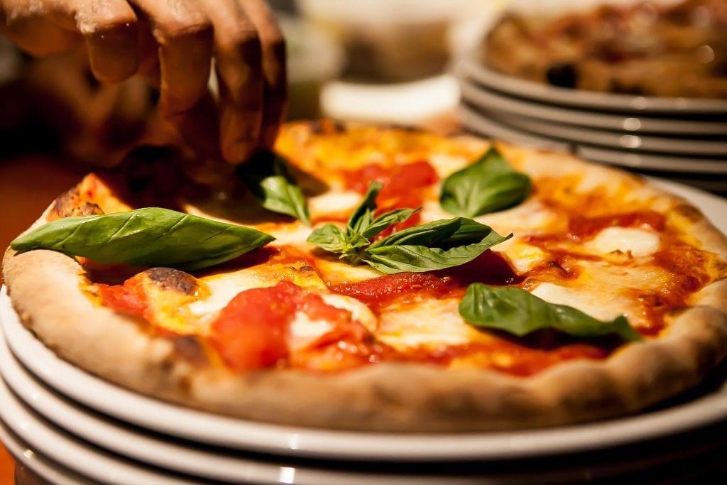 Pizza, l'aciugheta