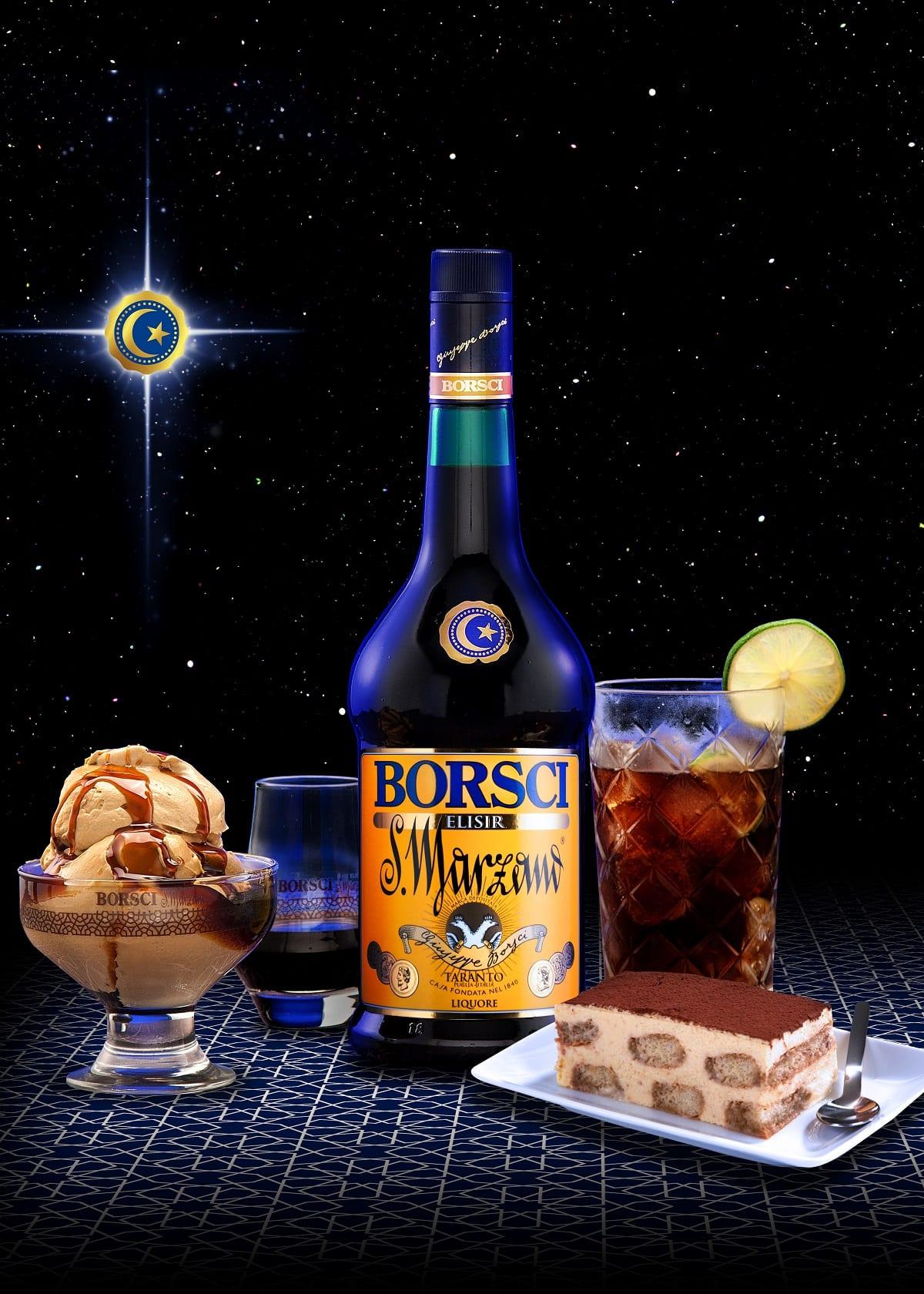 Una bottiglia di elisir Borsci San Marzano