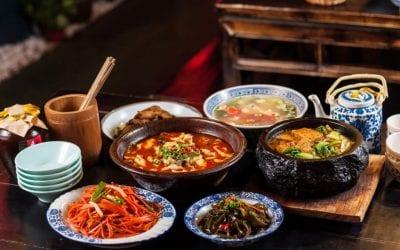 Piatti della cucina cinese del Sichuan