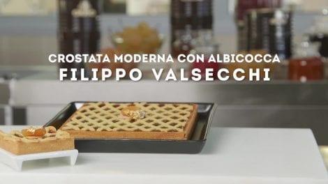 Filippo Valsecchi e la sua crostata moderna con albicocca