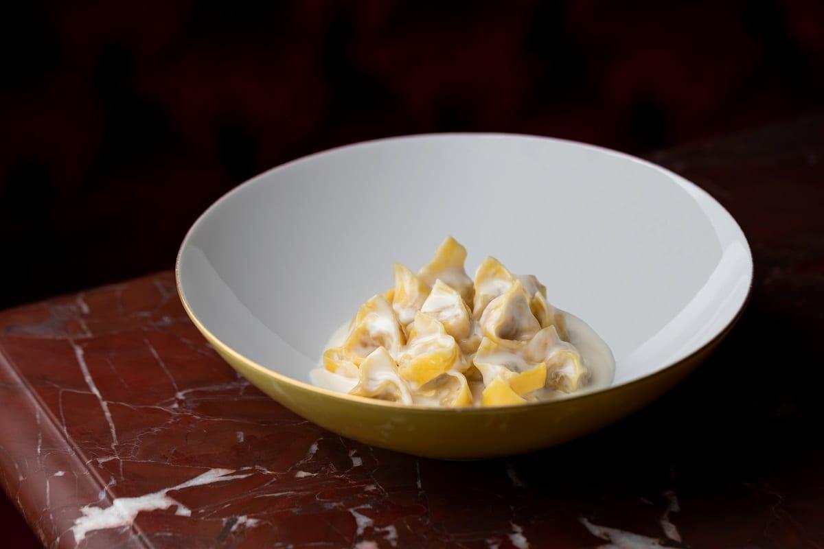 I tortellini con la panna di Gucci Osteria