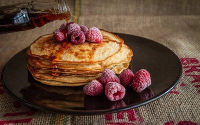 Pancakes con lamponi