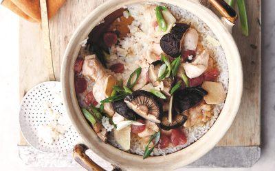 pollo e salsiccia cinese in cocotte TAGLIO - cucina cinese - guido tommasi