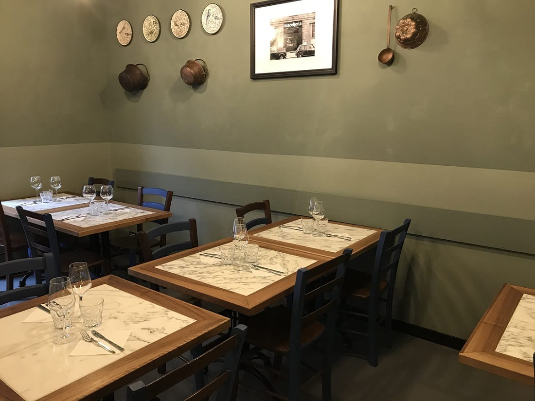 I tavoli di Sottobosco a Milano