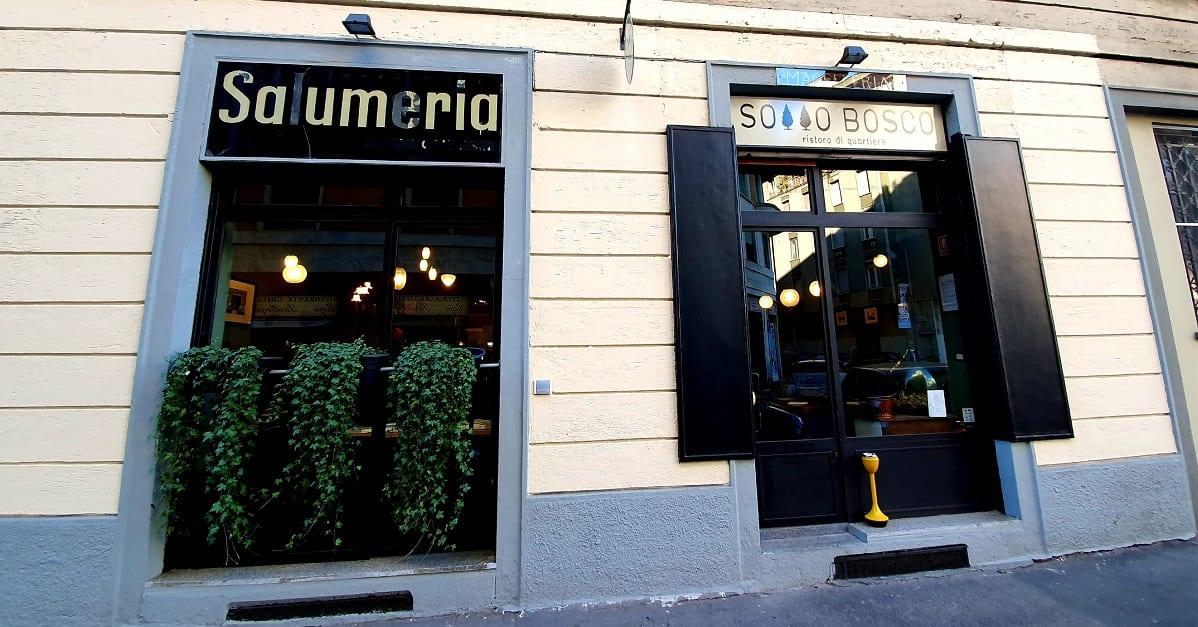 L'esterno di Sottobosco a Milano