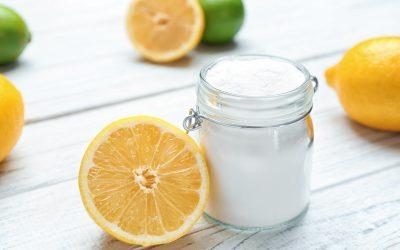 Barattolo con bicarbonato e limone