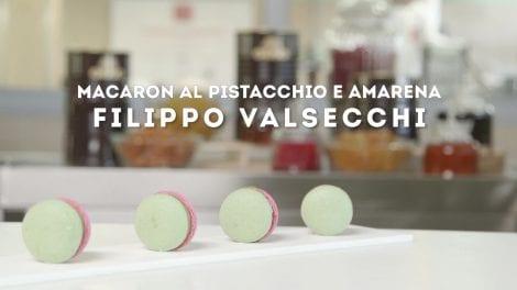 Filippo Valsecchi e il suo Macaron al pistacchio e amarena