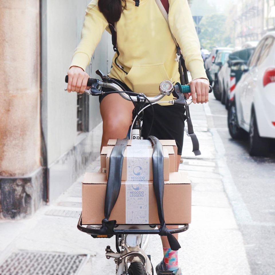 Consegne in bicicletta Negozio Leggero