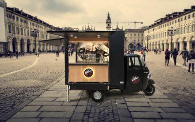 L'apecar di Caffè Vergnano a Torino