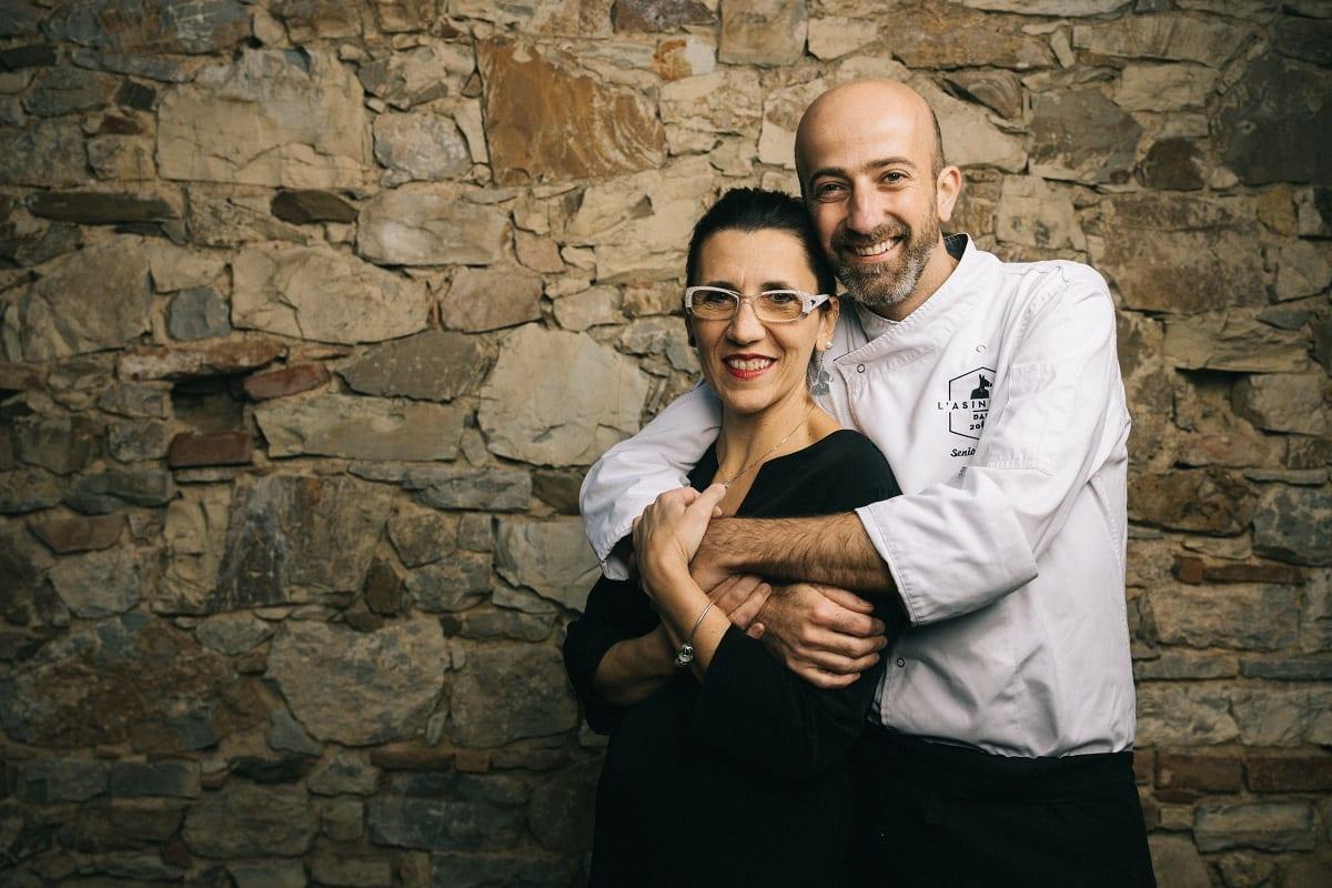 Senio Venturi con sua moglie Elisa