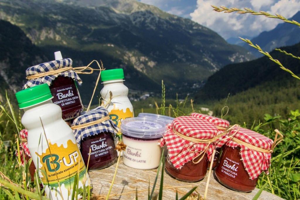 Yogurt e marmellate di Alpe Burki