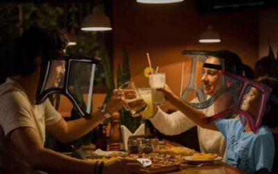 Rendering mashcere protettive al ristorante