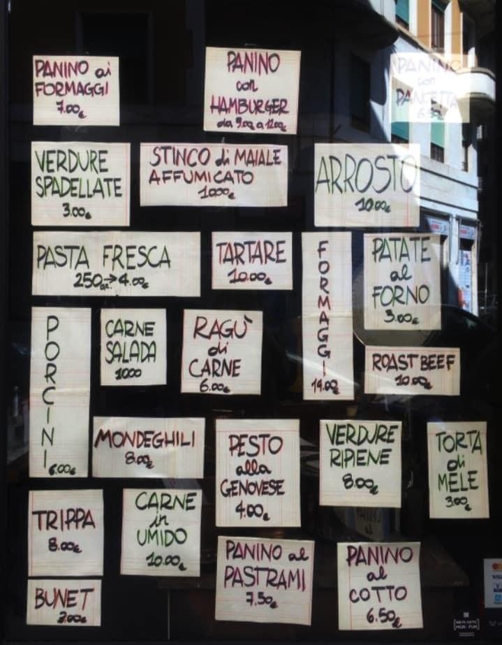 La vetrina di Sottobosco a Milano