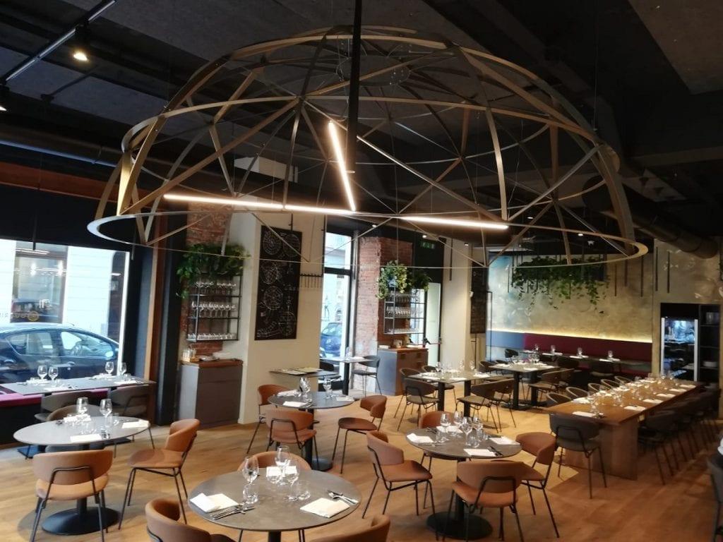 la sala del ristorante Guarini