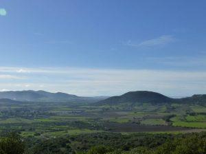 Panorama sui campi della Sardegna