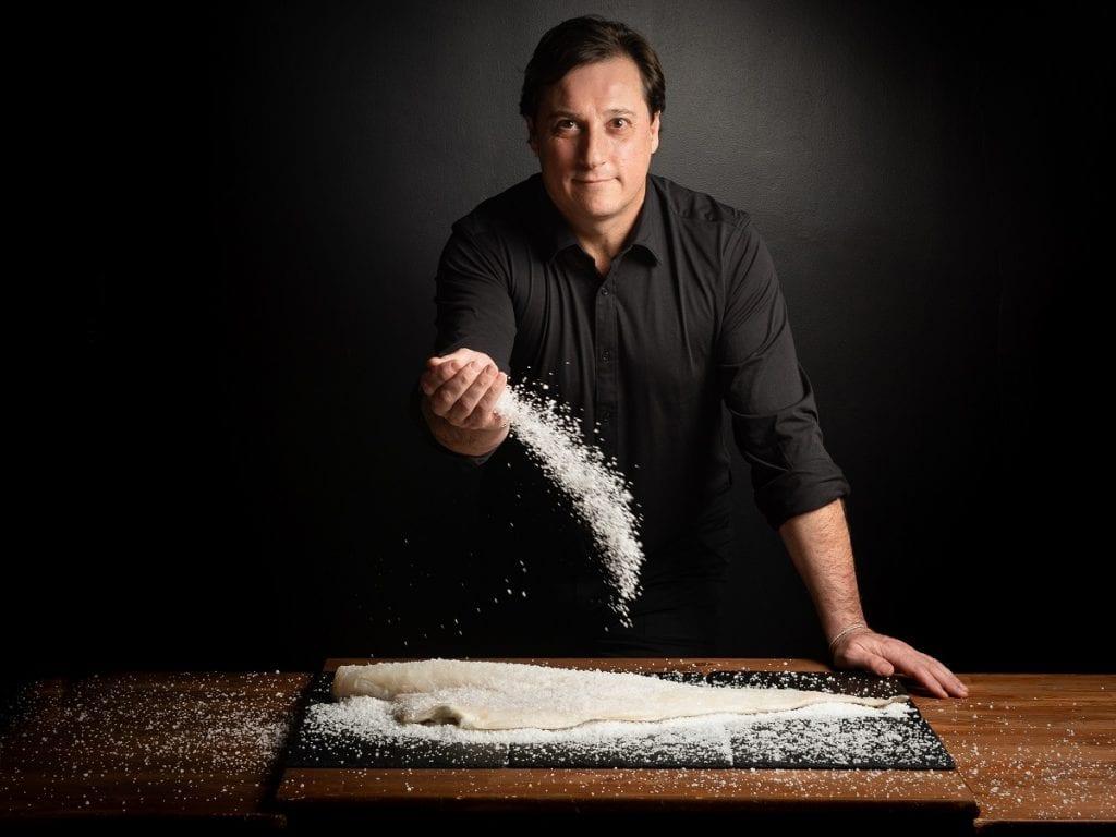 Lo chef Fabio Montagna e il baccalà