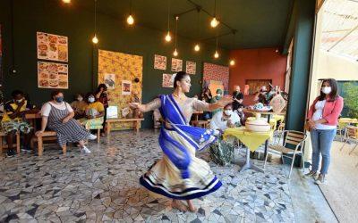 Danza tradizionale delle Mauritius al bistrot di Bari