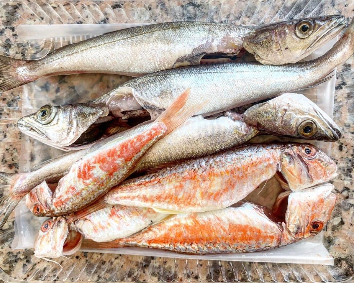 Pescato laziale già pulito e confezionato per la consegna