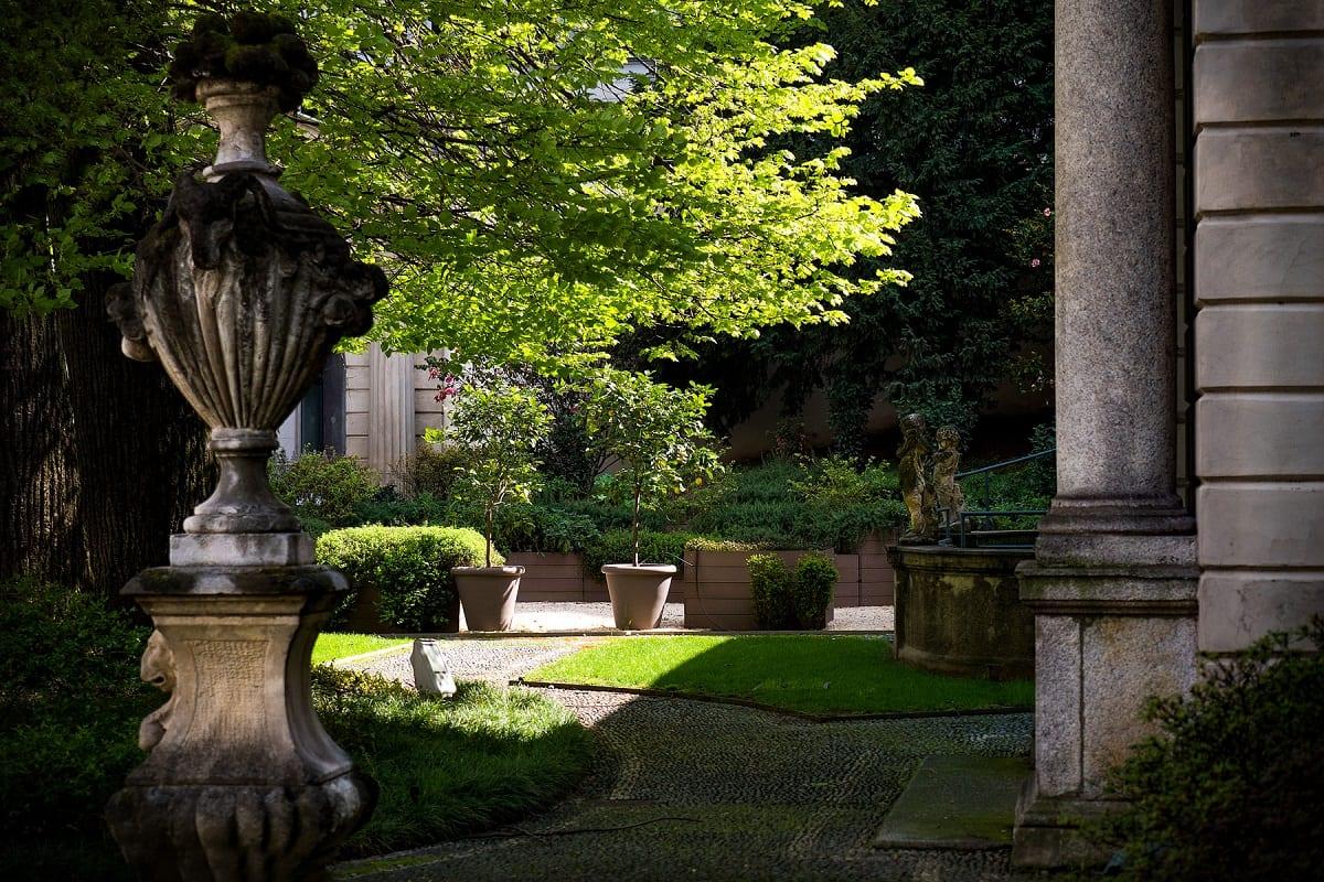 il giardino di Casa Manzoni a Milano