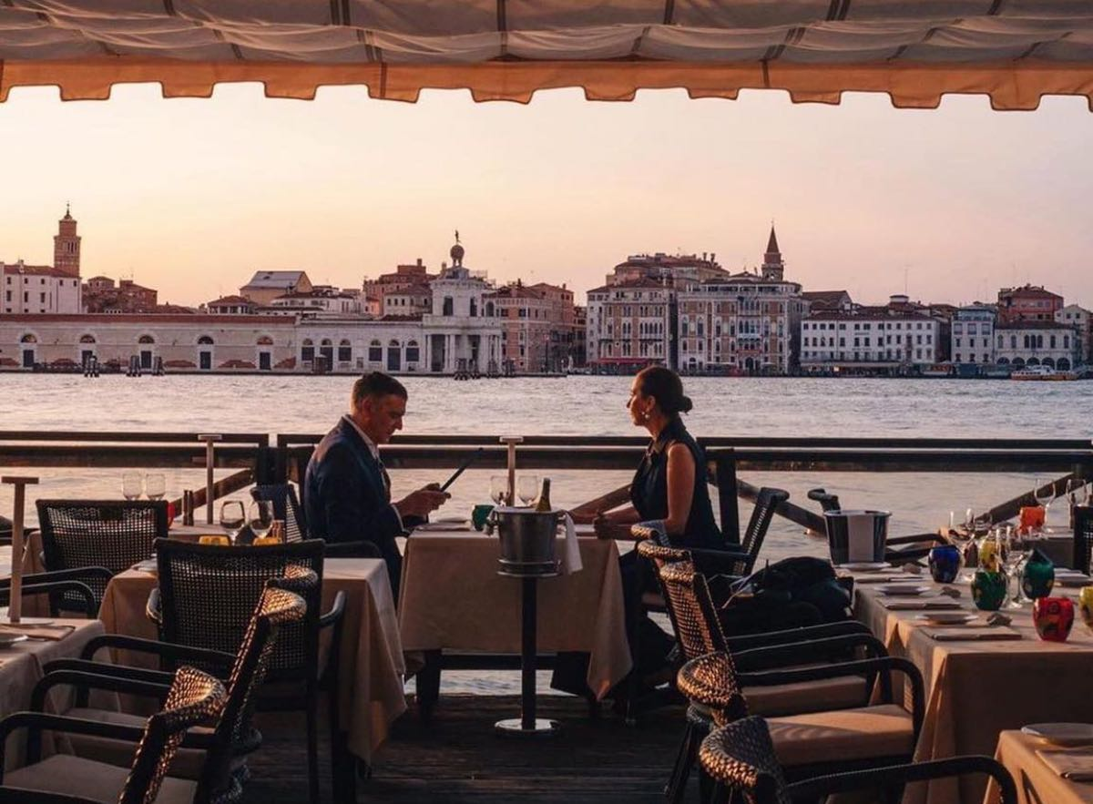 mangiare a Venezia all'aperto - Oro Restaurant dell'Hotel Cipriani alla Giudecca