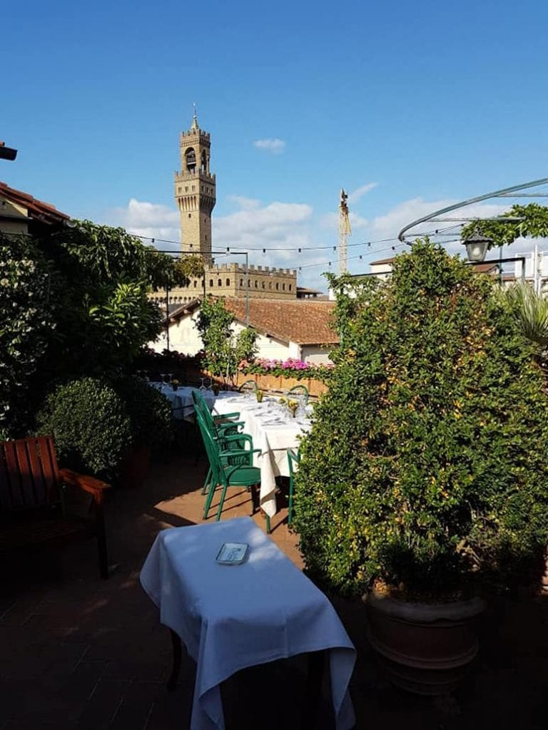 osteria tre panche all'hotl hermitage