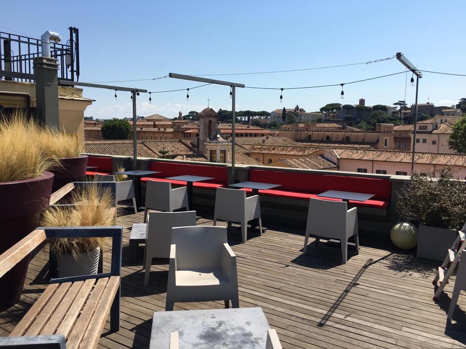 la terrazza di Jacopa a Roma