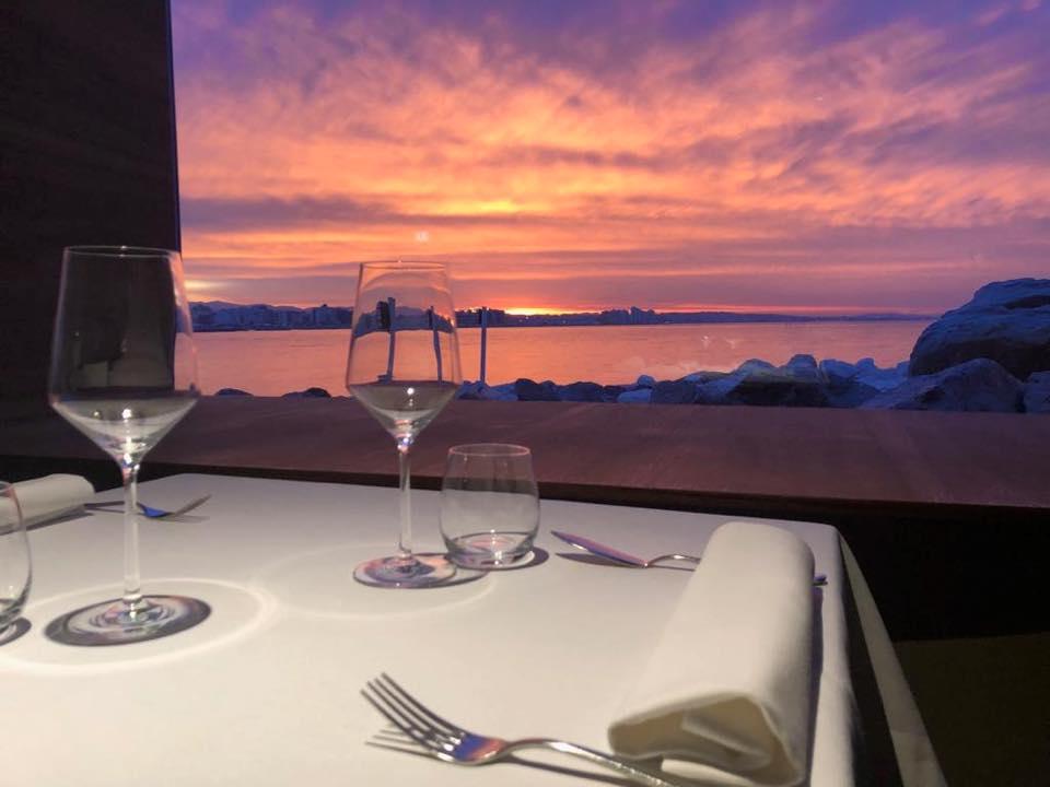 tavolo al tramonto da Gente di Mare