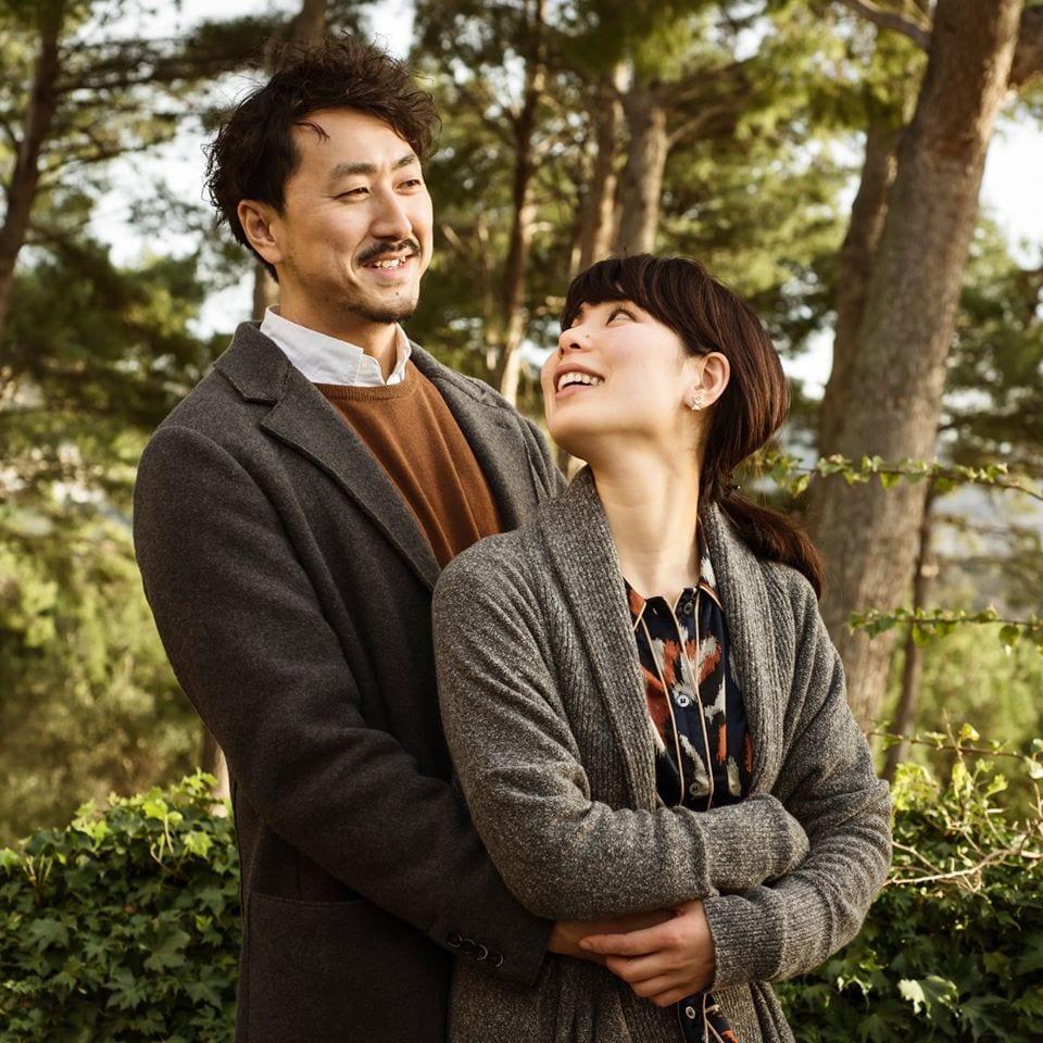 Shimpei e sua moglie Sayuri a Poggio ai Santi