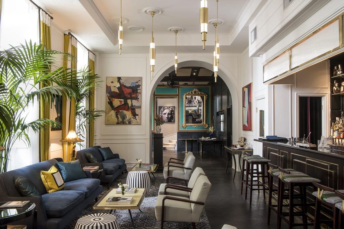 Il salotto dell'hotel Vilòn