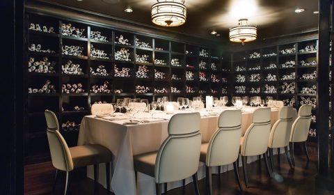 La cantina del ristorante Del Posto a New York