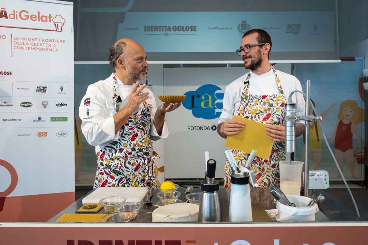 Moreno Cedroni e Luca Abbadir a Identità di gelato