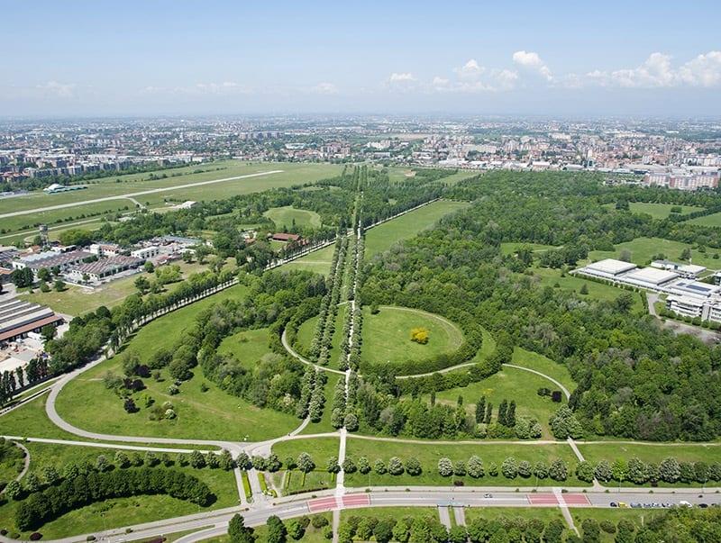 Il parco Nord di Milano dall'alto