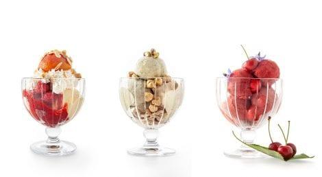Tre coppe gelato della gelateria Gelato Reale