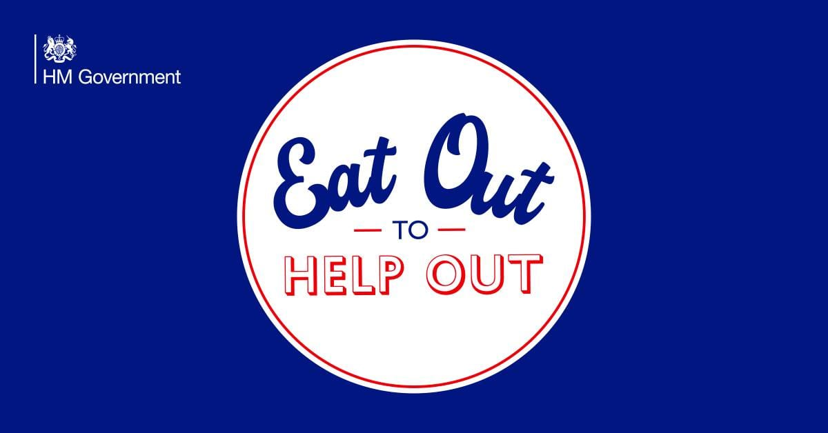 La locandina dell'iniziativa Eat out to help out
