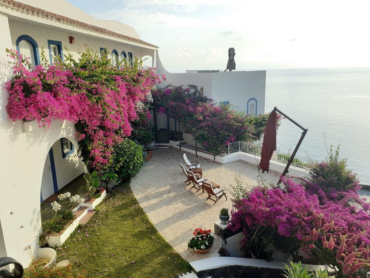terrazza dell'hotel Punta Scario