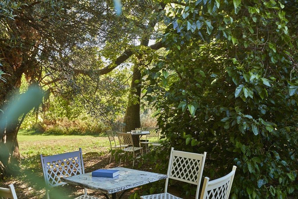 Tavolo per la lettura a Villa Tasca