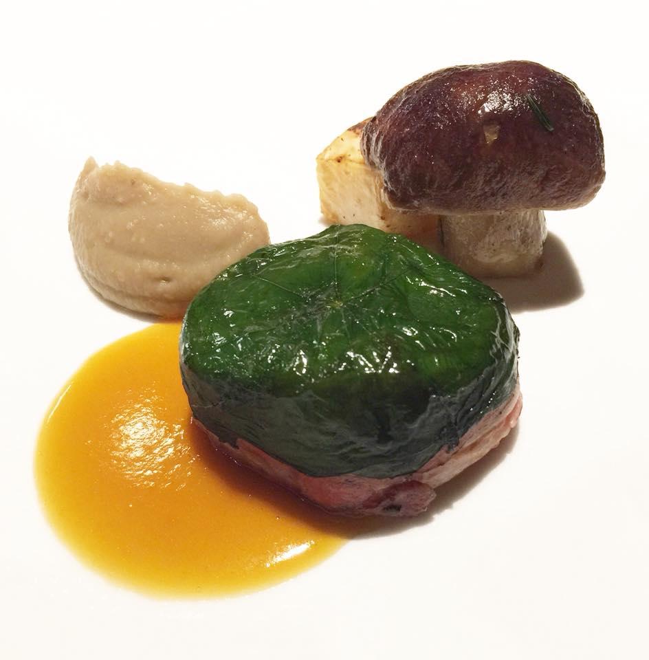 Un piatto della Lanterna Verde di Villa Chiavenna