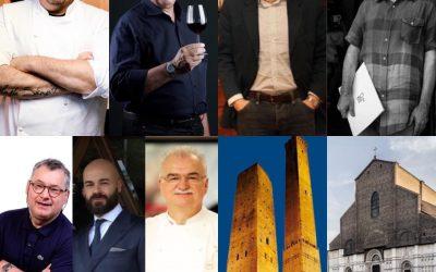 I protagonisti della cena evento di piazza Maggiore a Bologna
