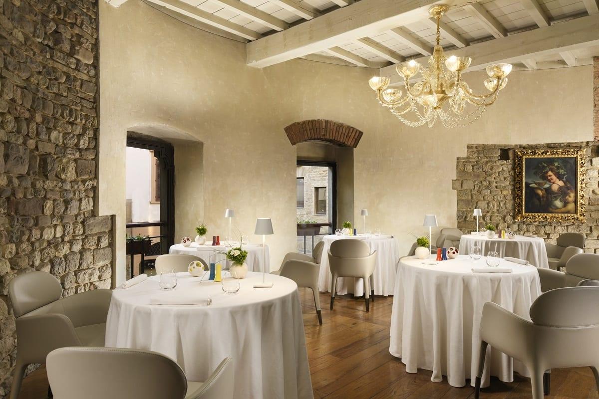 La sala del ristorante Santa Elisabetta