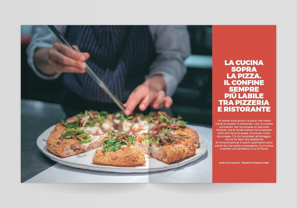 La cucina sulla pizza, dal mensile del Gambero Rosso