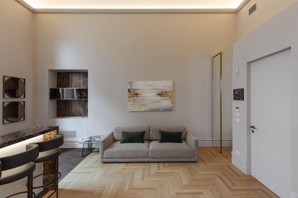 Palazzo BN appartamenti soggiorno